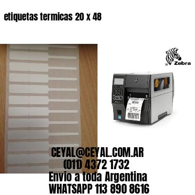 etiquetas termicas 20 x 48