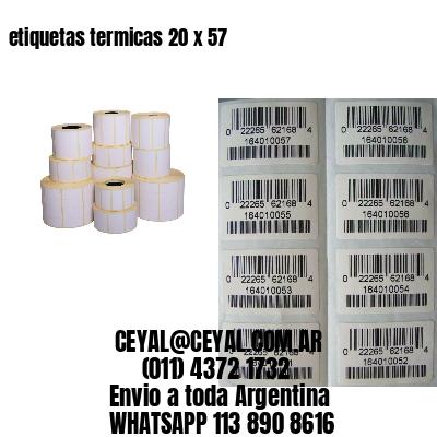 etiquetas termicas 20 x 57