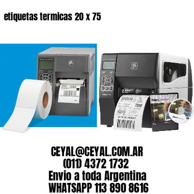 etiquetas termicas 20 x 75