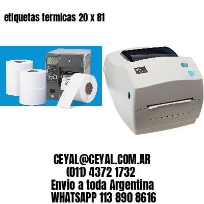 etiquetas termicas 20 x 81
