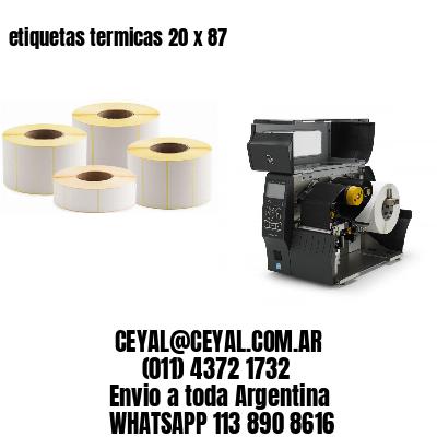 etiquetas termicas 20 x 87