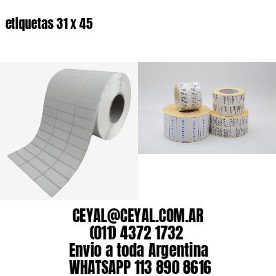 etiquetas 31 x 45
