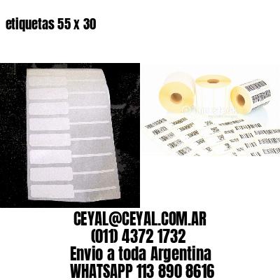 etiquetas 55 x 30
