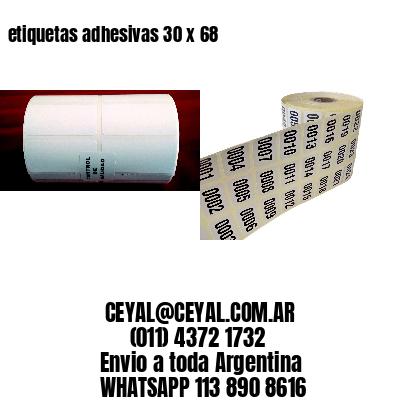 etiquetas adhesivas 30 x 68