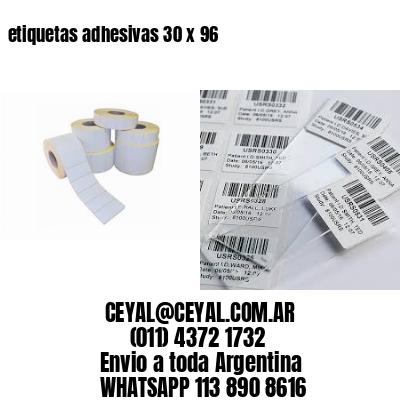 etiquetas adhesivas 30 x 96