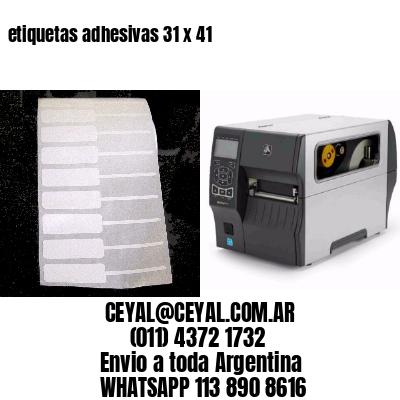 etiquetas adhesivas 31 x 41