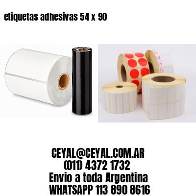etiquetas adhesivas 54 x 90
