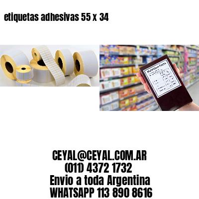 etiquetas adhesivas 55 x 34