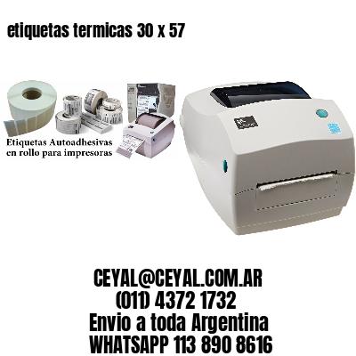 etiquetas termicas 30 x 57