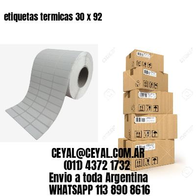 etiquetas termicas 30 x 92