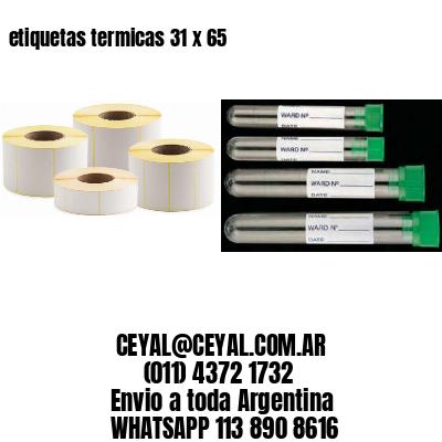 etiquetas termicas 31 x 65