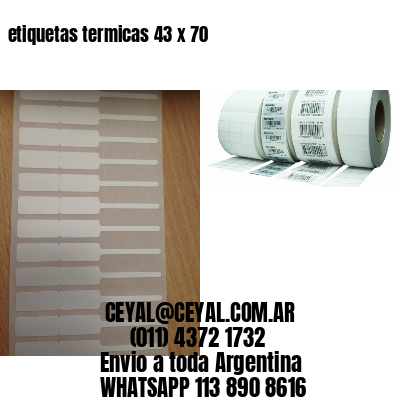 etiquetas termicas 43 x 70