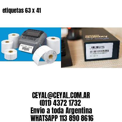etiquetas 63 x 41
