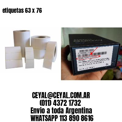 etiquetas 63 x 76