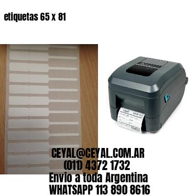 etiquetas 65 x 81