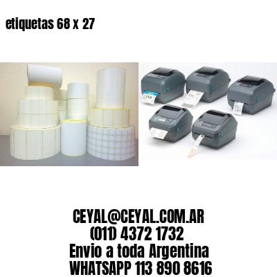 etiquetas 68 x 27
