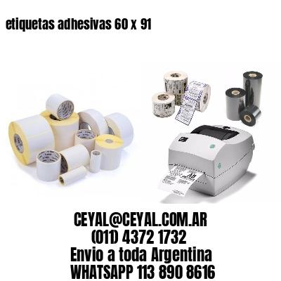 etiquetas adhesivas 60 x 91