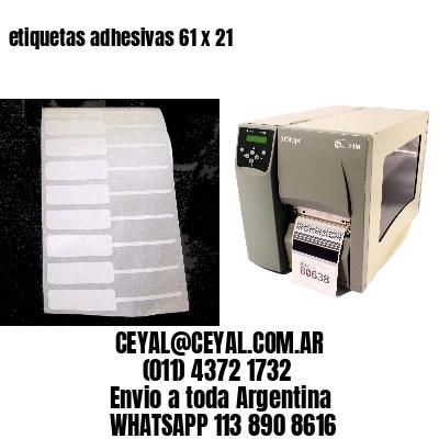 etiquetas adhesivas 61 x 21