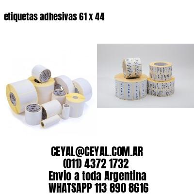 etiquetas adhesivas 61 x 44