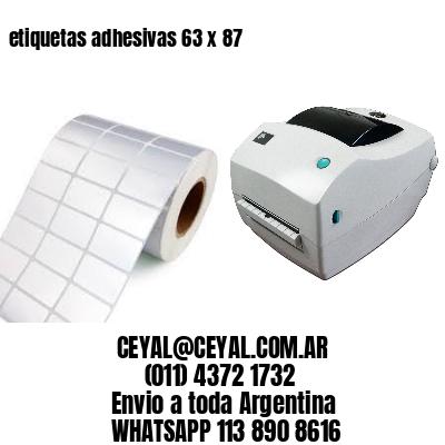 etiquetas adhesivas 63 x 87