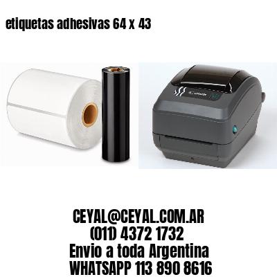 etiquetas adhesivas 64 x 43