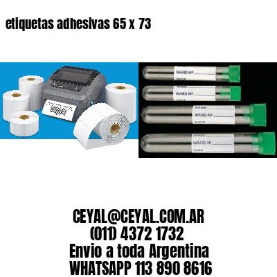 etiquetas adhesivas 65 x 73