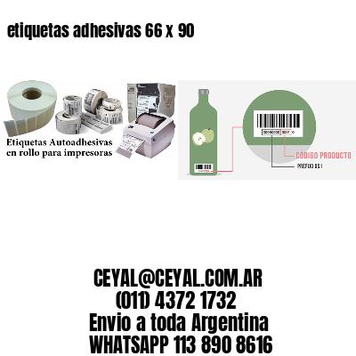 etiquetas adhesivas 66 x 90