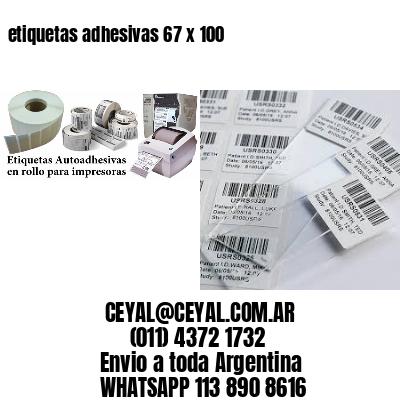 etiquetas adhesivas 67 x 100