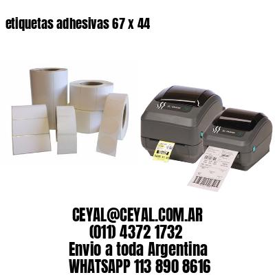 etiquetas adhesivas 67 x 44