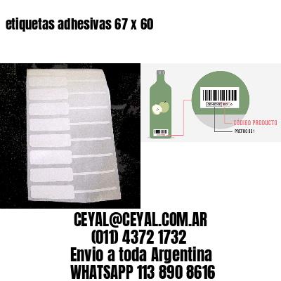 etiquetas adhesivas 67 x 60