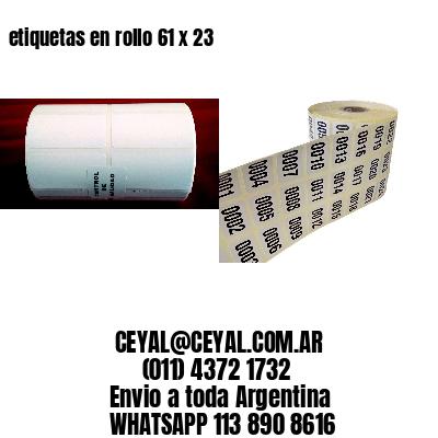 etiquetas en rollo 61 x 23