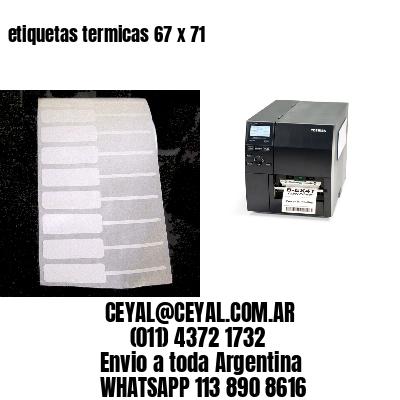 etiquetas termicas 67 x 71