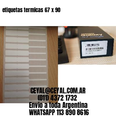 etiquetas termicas 67 x 90