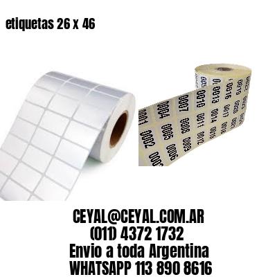 etiquetas 26 x 46