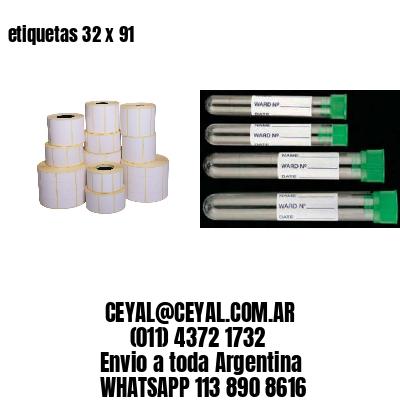 etiquetas 32 x 91