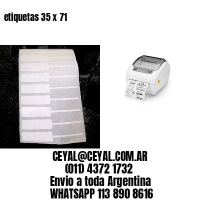 etiquetas 35 x 71