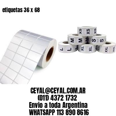 etiquetas 36 x 68