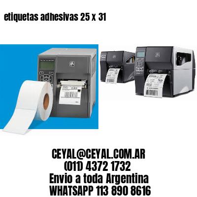 etiquetas adhesivas 25 x 31