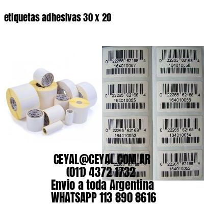 etiquetas adhesivas 30 x 20