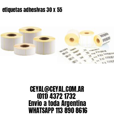 etiquetas adhesivas 30 x 55