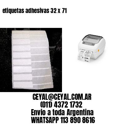 etiquetas adhesivas 32 x 71