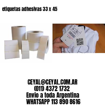 etiquetas adhesivas 33 x 45