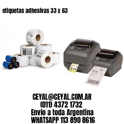 etiquetas adhesivas 33 x 63