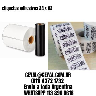 etiquetas adhesivas 34 x 83