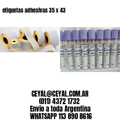 etiquetas adhesivas 35 x 43
