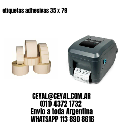 etiquetas adhesivas 35 x 79