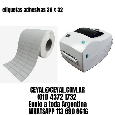 etiquetas adhesivas 36 x 32