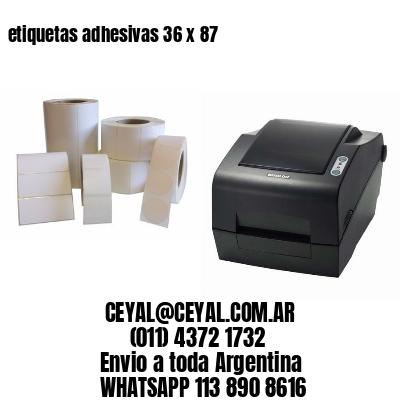 etiquetas adhesivas 36 x 87