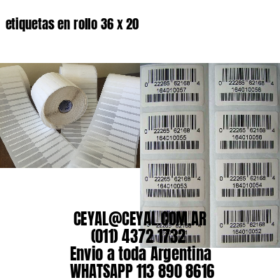 etiquetas en rollo 36 x 20