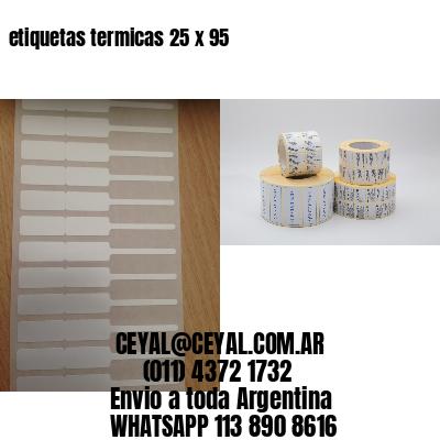 etiquetas termicas 25 x 95
